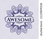 blue rosette. linear... | Shutterstock .eps vector #1115849318