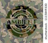 ambient on camo texture | Shutterstock .eps vector #1115849330