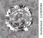 open your mind on grey... | Shutterstock .eps vector #1115849384