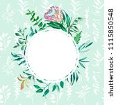 wedding invitation card.... | Shutterstock . vector #1115850548