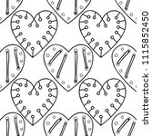 decorative hearts. black and... | Shutterstock .eps vector #1115852450