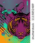 abstract cover design poster... | Shutterstock .eps vector #1115852489