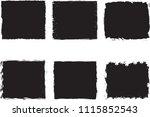 grunge frame set. vector... | Shutterstock .eps vector #1115852543