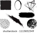 grunge design elements . brush... | Shutterstock .eps vector #1115852549