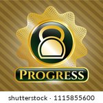 gold emblem or badge with... | Shutterstock .eps vector #1115855600