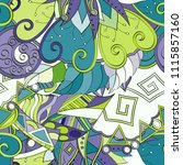 tracery seamless pattern.... | Shutterstock .eps vector #1115857160