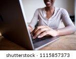 close up partial portrait of... | Shutterstock . vector #1115857373