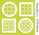 templates for laser cutting ... | Shutterstock .eps vector #1115857784