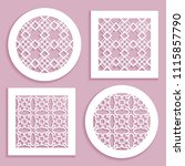 templates for laser cutting ... | Shutterstock .eps vector #1115857790