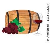 vector illustration wineglass... | Shutterstock .eps vector #1115862314