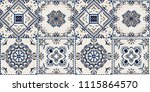 talavera pattern.  indian... | Shutterstock .eps vector #1115864570