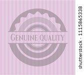 genuine quality pink emblem | Shutterstock .eps vector #1115865338