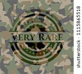 very rare on camouflaged pattern | Shutterstock .eps vector #1115865518