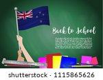 vector flag of new zealand on... | Shutterstock .eps vector #1115865626