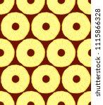 pineapple slices vector... | Shutterstock .eps vector #1115866328