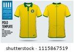 brazil team polo t shirt sport... | Shutterstock .eps vector #1115867519