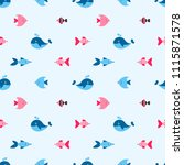 seamless pattern with cute... | Shutterstock . vector #1115871578