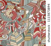 tracery seamless pattern.... | Shutterstock .eps vector #1115873894