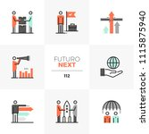 modern flat icons set of... | Shutterstock .eps vector #1115875940