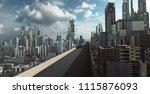 highway overpass with... | Shutterstock . vector #1115876093