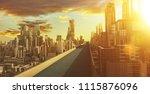 highway overpass with... | Shutterstock . vector #1115876096