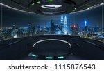 futuristic interior design... | Shutterstock . vector #1115876543