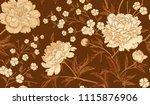 floral vintage seamless pattern ... | Shutterstock .eps vector #1115876906