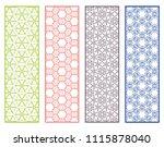 decorative geometric line... | Shutterstock .eps vector #1115878040