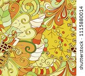 tracery seamless pattern.... | Shutterstock .eps vector #1115880014