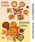 polish and armenian cuisine... | Shutterstock .eps vector #1115880026