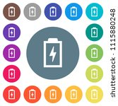 battery with energy symbol flat ... | Shutterstock .eps vector #1115880248