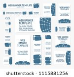 set of web banners of standard... | Shutterstock .eps vector #1115881256