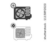 air conditioner vector  icon. | Shutterstock .eps vector #1115892023