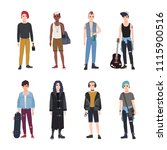 collection of teenage boys ...   Shutterstock .eps vector #1115900516
