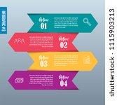 vector arrows infographic | Shutterstock .eps vector #1115903213