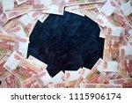 money on russia on black...   Shutterstock . vector #1115906174