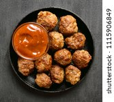 homemade meatballs with tomato... | Shutterstock . vector #1115906849