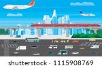 illustration of a cityscape... | Shutterstock .eps vector #1115908769