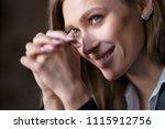 close up studio portrait of... | Shutterstock . vector #1115912756
