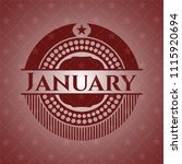 january retro red emblem | Shutterstock .eps vector #1115920694