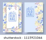 vector floral banners with... | Shutterstock .eps vector #1115921066