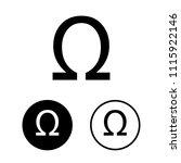omega symbol set.vector... | Shutterstock .eps vector #1115922146