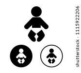 baby icon set.vector...   Shutterstock .eps vector #1115922206