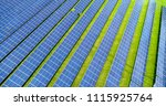 solar panels in aerial view | Shutterstock . vector #1115925764