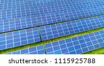 solar panels in aerial view | Shutterstock . vector #1115925788