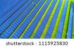 solar panels in aerial view | Shutterstock . vector #1115925830