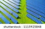 solar panels in aerial view | Shutterstock . vector #1115925848