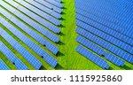 solar panels in aerial view | Shutterstock . vector #1115925860