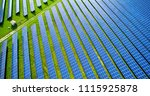 solar panels in aerial view | Shutterstock . vector #1115925878