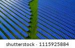 solar panels in aerial view | Shutterstock . vector #1115925884